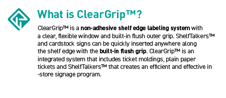 ClearGrip Shelf Edge Labeling System