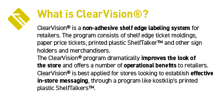 ClearVision Shelf Edge Labeling System