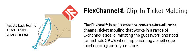 Flex Series Ticket Moldings & Shelf Adapters