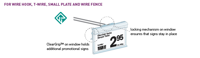 Label Holders for wire hook, t-wire, small plate and wire fence applications