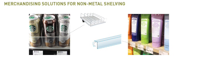 Non-Metal Shelving Merchandising