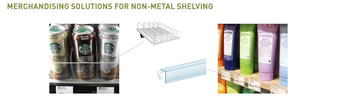 Non-Metal Shelving Merchandising
