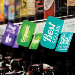 reusable printed plastic shelf edge signs