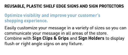 Printed Plastic Shelf Edge Signs
