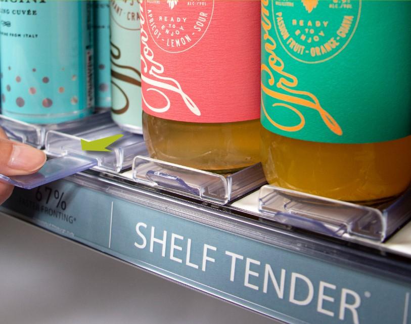 Shelf Tender in use