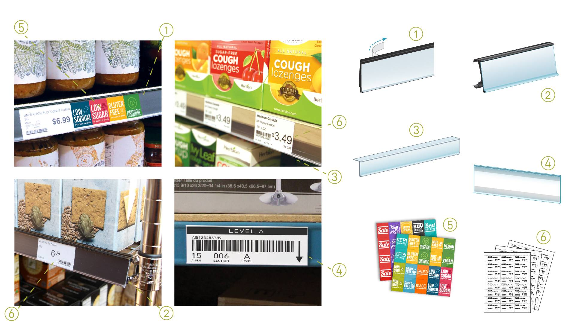 ClearVision shelf edge labeling systems