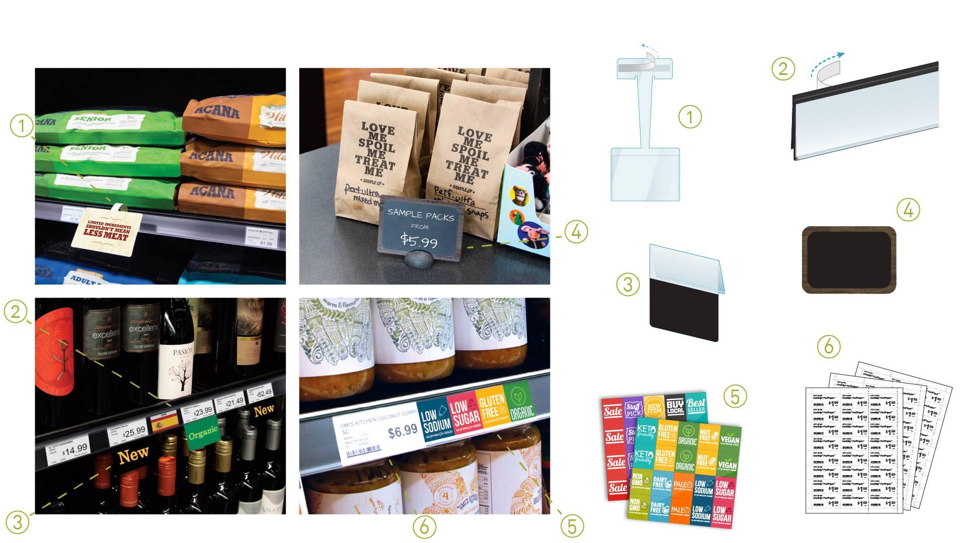 shelf talkers printed plastic shelf edge signs