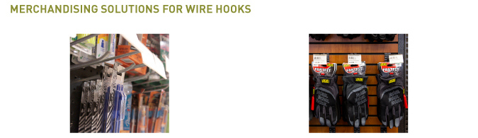 wire hooks merchandising solutions