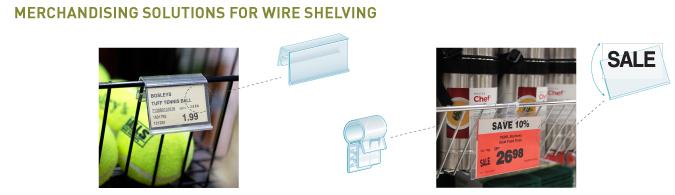 Wire Shelf Merchandising